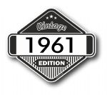 VIntage Edition 1961 Classic Retro Cafe Racer Design External Vinyl Car Motorcyle Sticker 85x70mm
